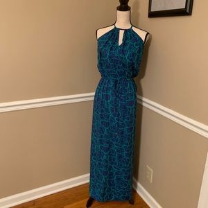 GORGEOUS NEW Pineapples royal blue/turquoise maxi
